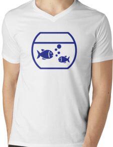 Blue Aquarium Fish Mens V-Neck T-Shirt