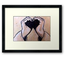 Grasp of a Heart Framed Print
