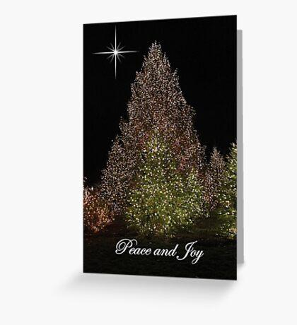 Peace and Joy ~ Lights of Christmas  Greeting Card