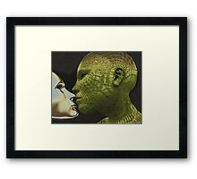Cyber Kiss Framed Print