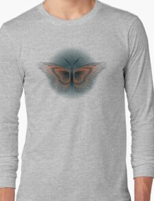 Float away (Line Contour Butterfly) Long Sleeve T-Shirt