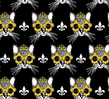 Black and Gold Pardi Animal Pattern by StudioBlack