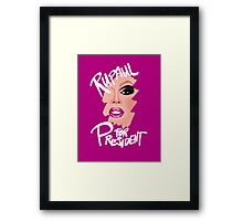RuPaul for President- White Text Framed Print