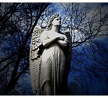 Poem by Sally Omar - Angel, Cross my Heart Photographic Print