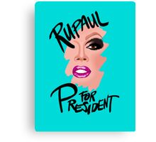 RuPaul for President- Black Text Canvas Print