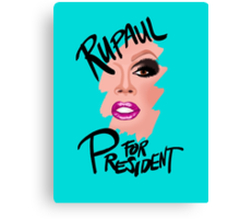 RuPaul for President- Black Text Canvas Print
