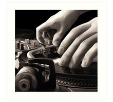 Scratch, Turntable Oil Painting Art Print