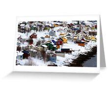 Fjordgård i Senja Greeting Card