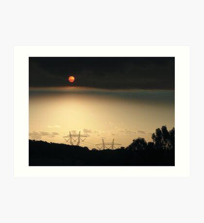 Bushfire Sunset Art Print