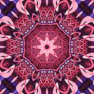 Kaleidoscope in Pink, Purple and Blue by walstraasart