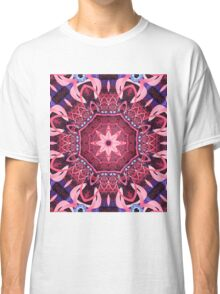 Kaleidoscope in Pink, Purple and Blue Classic T-Shirt