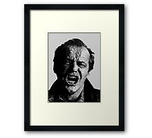 One Flew over Jack Nicholson's Nest - Digital Sketch  Framed Print