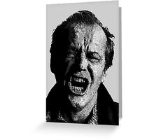 One Flew over Jack Nicholson's Nest - Digital Sketch  Greeting Card