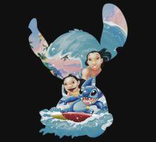 Stitch And His Ohana by missvinylpop
