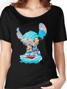 Stitch And His Ohana Women's Relaxed Fit T-Shirt
