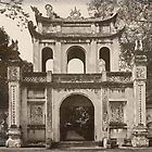 Vietnam - Hanoi - Temple of Literature ... Entry Gate  by Malcolm Heberle