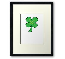 Green clover shamrock for St Patrick's day cute! Framed Print