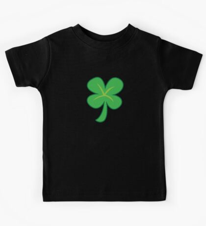 Green clover shamrock for St Patrick's day cute! Kids Tee