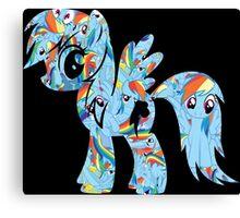 Rainbow Dash Splash Canvas Print