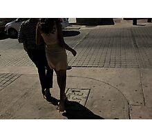 Dress & Cobblestones Photographic Print