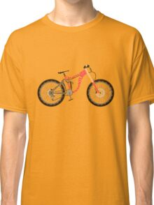 Typographical Anatomy of a Down Hill Bike Classic T-Shirt