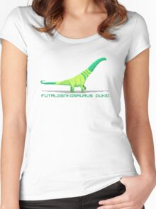 Pixel Futalognkosaurus Women's Fitted Scoop T-Shirt