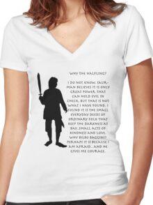 Why Bilbo? Women's Fitted V-Neck T-Shirt
