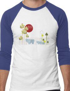 Ellephant Family In The Forest Men's Baseball ¾ T-Shirt
