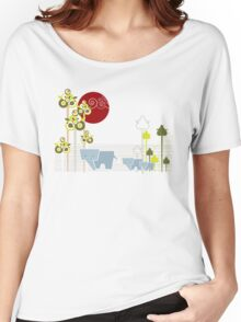 Ellephant Family In The Forest Women's Relaxed Fit T-Shirt