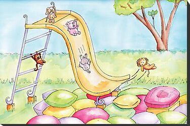 Baby Animal Slide by shanmclean