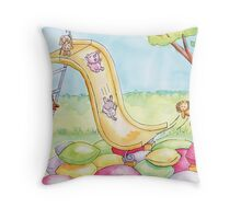 Baby Animal Slide Throw Pillow