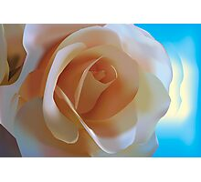Simple Rose - Vector Illustration Photographic Print