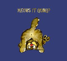 Meows It Going Cat Cartoon for Darks Womens Fitted T-Shirt