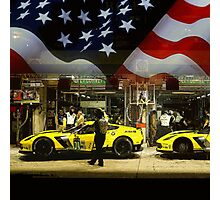 Corvette Racing C7R - American Flag Photographic Print