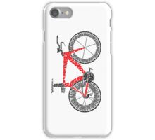 Anatomy of a Time Trial Bike iPhone Case/Skin