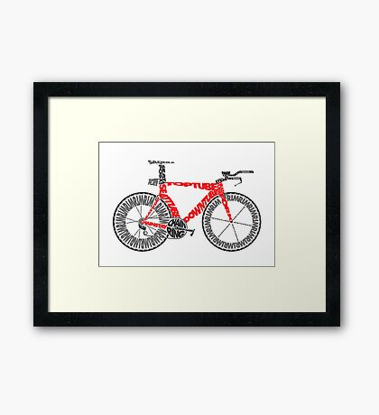 Anatomy of a Time Trial Bike Framed Print