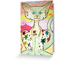 Funky Cat Greeting Card