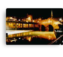 Pultney Bridge and Weir Bath uk Canvas Print