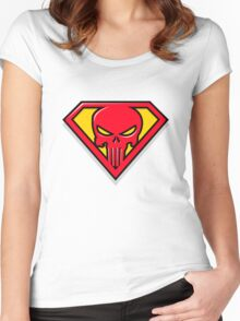 Super Punisher Logo Women's Fitted Scoop T-Shirt