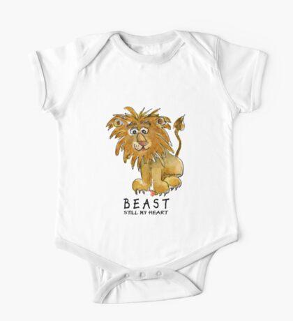 Beast Still My Heart Cartoon Lion One Piece - Short Sleeve