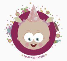 Happy birthday baby girl! t-shirt by oksancia
