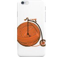 Orange Yarn Farthing iPhone Case/Skin