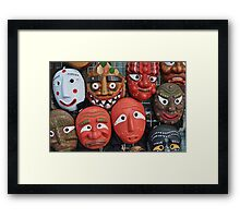 Traditional Korean Mask Framed Print