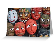 Traditional Korean Mask Greeting Card