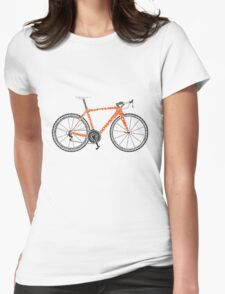 Typographic Anatomy of a Road Bike Womens Fitted T-Shirt