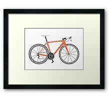 Typographic Anatomy of a Road Bike Framed Print