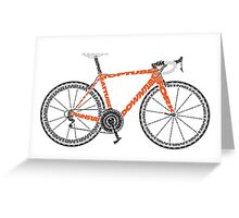 Typographic Anatomy of a Road Bike Greeting Card