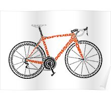 Typographic Anatomy of a Road Bike Poster