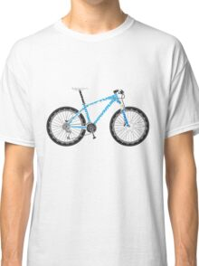 Typographical Anatomy of a Mountain Bike Classic T-Shirt