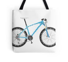Typographical Anatomy of a Mountain Bike Tote Bag
